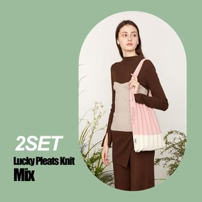 [2SET] Lucky Pleats Knit M Mix(0JSJ1SH404SET)