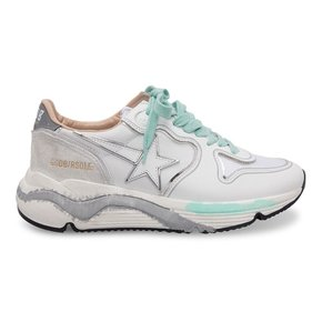 Golden Goose Running Sole White Leather-Silver Mirror G36WS963 N4 골든구스 러닝 솔 스니커즈