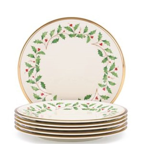 레녹스 Lenox Holiday 3Pc 8 Salad Plate Set