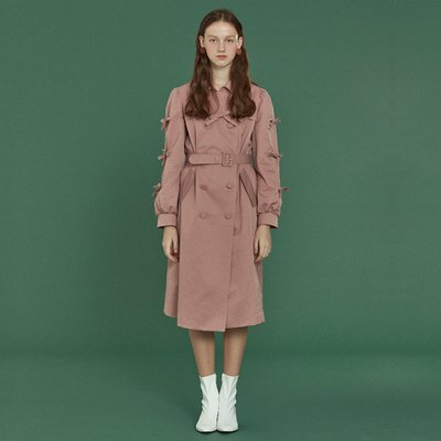 [소피앤테일러] Ribbon Trench Coat _ Pink
