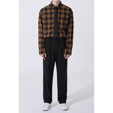 one tuck long wide pants_CWPAW19712BKX