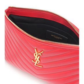 Saint Laurent(SAINT LAURENT(생로랑)) Monogram 레더 파우치 P00362269 레드/Bandana Red[마이테레사]