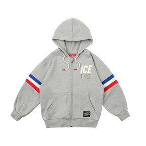 1992 Icebiscuit cotton zip-up hooded sweatshirt
