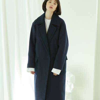 [30%할인적용가]color block coat Purple