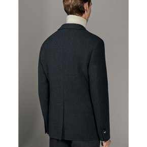 CONTRAST TWO-BUTTON WOOL BLAZER 02002402802