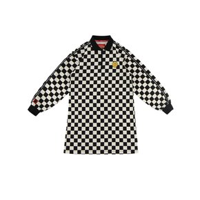 [20% SALE] Quiz smile checkerboard half zip dress