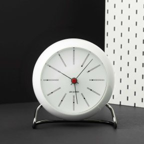아르네야콥센 Table Clock Bankers White (43675)