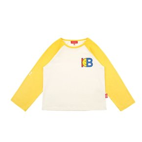 IB-print color block raglan tee