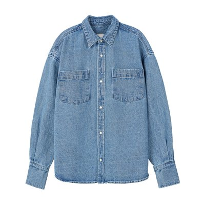 [레이브]Oversized Denim Shirt Jacket in Blue_VJ0SJ1100