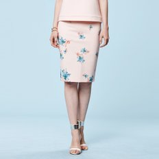 FLOWER PENCIL SKIRT