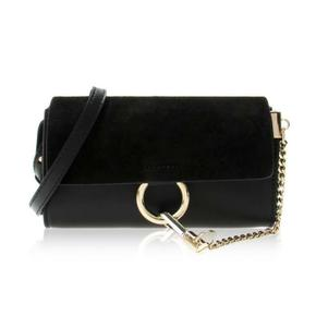 Chloe Faye Leather Suede Shoulder Bag