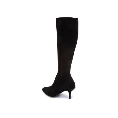 [파주점] Velours long boots(black) (DG3BW19504BLK)