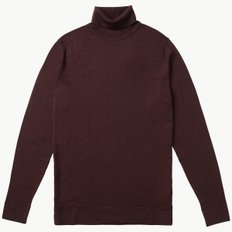 MERINO WOOL ROLL NECK MOSTO BROWN
