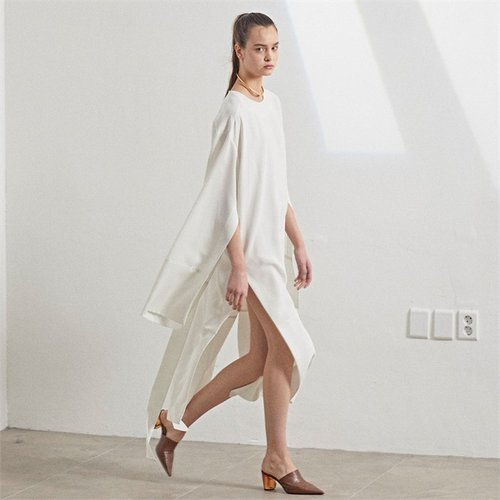 [MUSEE]  LUUN wide sleeve dress_White (2172505)