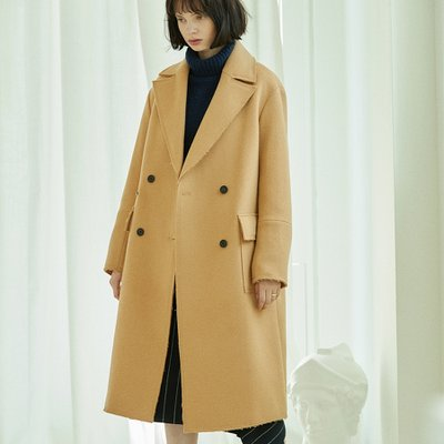 [30%할인적용가]stitch double coat Beige