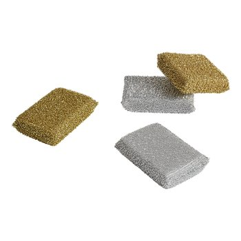 LUREX SPONGE SET OF 2 SILVER