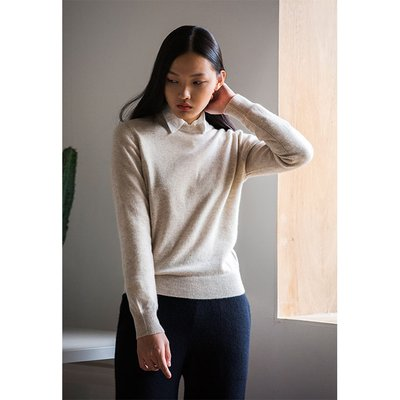 [20%할인가][WOMEN]Cashmere Crewneck_Cream