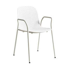 13EIGHTY ARM CHAIR CHALK WHITE/GREY WHITE