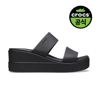 크록스공식 여성 CROCS BROOKLYN MID WEDGE W BLK (20SWWD206219)