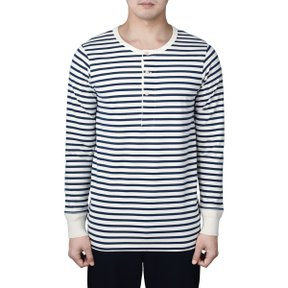 2M06 HENLEY LONG SLEEVE INK BLUE-NATURE