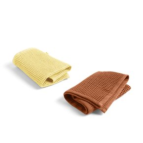 Waffle Dish Cloth (Set of 2) Terracotta and Yellow (507894)