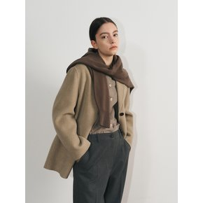Oversized raccoon coat(light khaki
