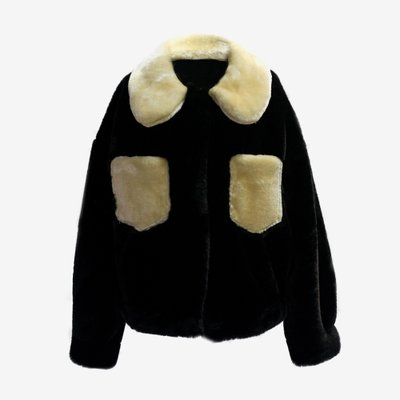 TOO COOL FOR FUR 투쿨포퍼 ALESSANDRA JACKET BLACK 017