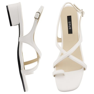 샌들 OS9089 Toe ring cross strap 화이트