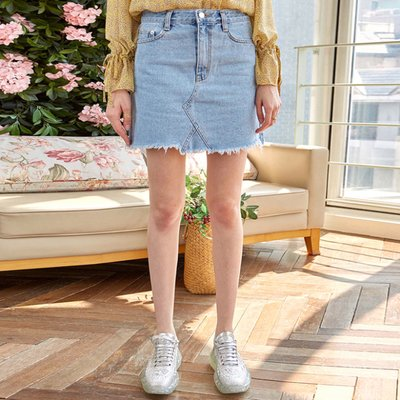 LIGHT WASH MINI SKT_DENIM (2222643)