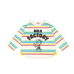 Milk factory baby multi stripe long sleeve tee