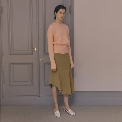 Ores Flare Skirt_Mustard Olive