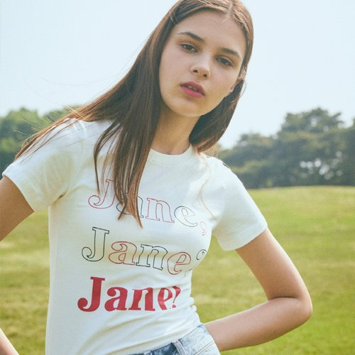 LJ JANE T-SHIRT(WHITE)