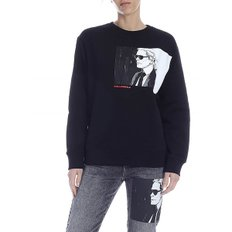 SS20 여성 스웨트셔츠 Karl Legend sweatshirt in black (200W1891 999)