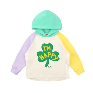 Clover multi color hooded sweatshirt