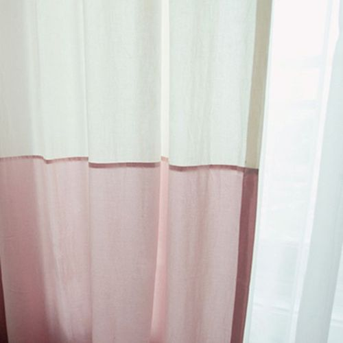 two tone curtain - pink