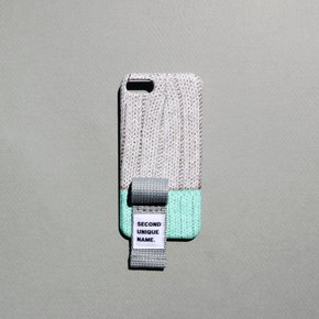 SUN CASE FINGER SWEATER GREY MINT