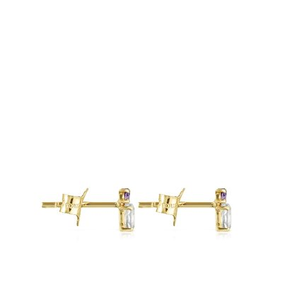 [최초출시가 279,000원]Mini Ivette Earrings in Gold with Prasiolite and Amethyst/귀걸이/912193030