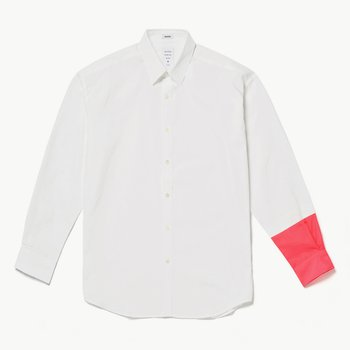 NEON COLOR SLEEVED MODERN SHIRT WHITE