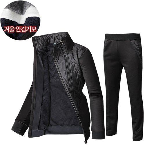 304db0d07c0 겨울 패딩 기모 남성 트레이닝복 운동복 트레이닝세트 MP-사선지퍼패딩 세트