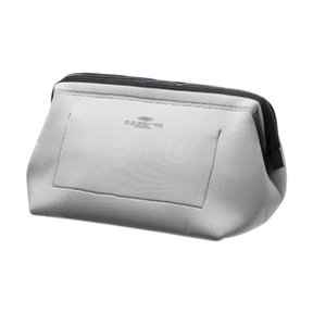 WIRED POUCH Large Light Gray x Orange