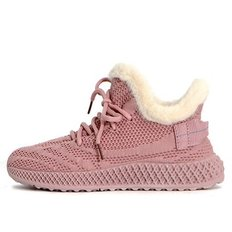 kami et muse Knit fur sneakers_KM19w179