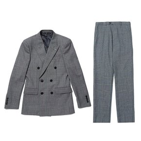 glen check texture double suit_CWFBW19756GYL_CWFCW19756GYL