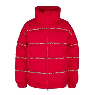 SA slim logo tape SHORT down-jacket (Red)