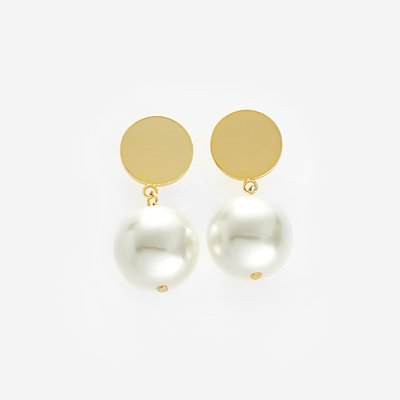[먼데이에디션] drop bold earrings - METAL, PEARL