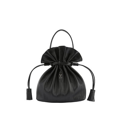 [조셉앤스테이시] Lucky Pleats Crossbag Rich Black