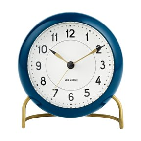 아르네야콥센 Table Clock Station Petroleum Blue (43678)