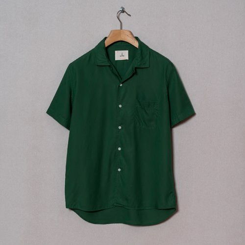 [LA PAZ/라파즈] 20PS SILVEIRA PANAMA SHIRT GREEN