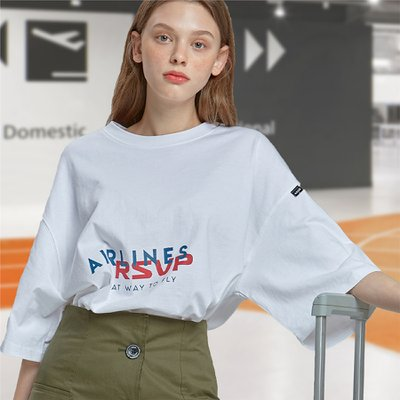 [RSVP] AIRLINES OVER-FIT T-SHIRTS_WH