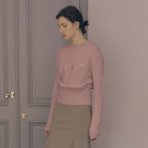 Leaf Cashmere Knit_Dust Pink