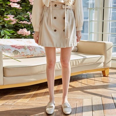 DOUBLE STRAP MINI SKT_LIGHT BEIGE (2222675)